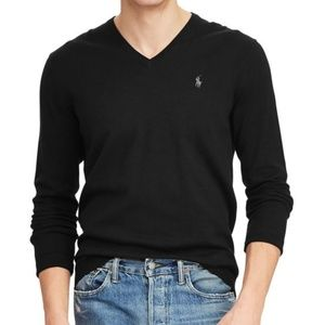 Polo Ralph Lauren Men's Pima Cotton V Neck Sweater